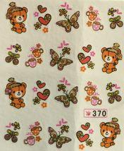 BANG STORE Nail Art Water Decals Glitter Teddy Bear Butterflies Tea Cups Hearts  - $2.12