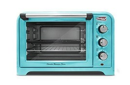 3Americana ERO-2600BL Collection Retro 6 Slice Toaster oven Blue Ovens S... - $83.89