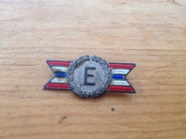 Vintage Antique WWII Army Navy Production Award Sterling Silver Enamel Pin E - $15.19