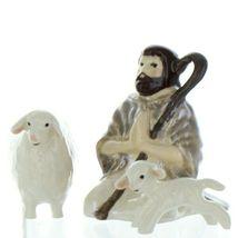 Hagen Renaker Specialty Nativity Shepherd Lamb & Sheep Ceramic Figurine Set image 3