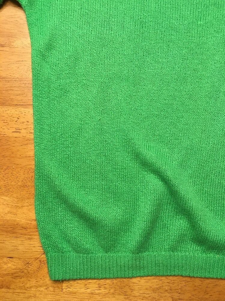 Abercrombie Kids Girl's Green Long Sleeve Scoop Neck Sweater - Size: Large