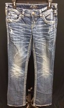 IR SILVER Jeans Co. Woman AIKO Boot Cut Pants Mid Rise Cuts Denim 27X33 - $17.49