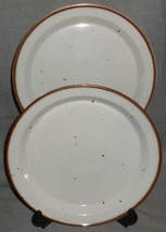 Set (2) Dansk Brown Mist Pattern Dinner Plates Niels Refsgaard Made In Denmark - $69.29