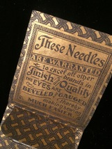 Vintage RARE Sharp & Son nickel plated3/9 sharps needle pack image 4