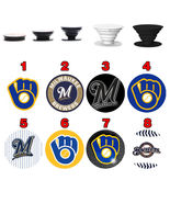 Pop up Phone Holder Expanding Stand Finger Grip Mount Milwaukee Brewers - $11.99