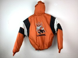 VTG City Boys Texas Longhorns Men's Spell Out Embroidered Puffer Jacket ... - $38.11