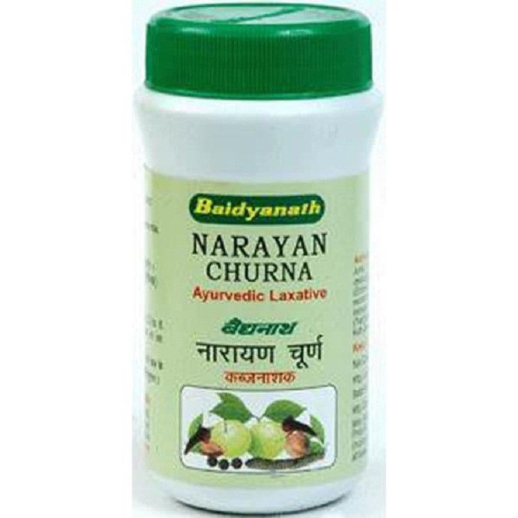 Primary image for 100% Natural | Baidyanath Ayurveda Narayan Churna 60 g (pack of 5) | Laxative