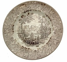 English Ironstone Tableware Castles Brown Plate 19.5 cms - $6.38