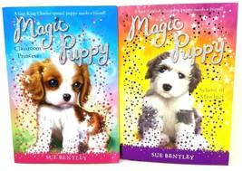 Lot of 2 Magic Puppy Books By Sue Bentley Classroom Princess School of M... - $7.69