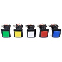 5 Pieces Arcade Square Shape LED Illuminated Push Button with Microswitc... - $11.95