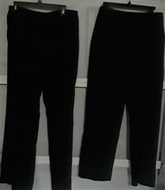 JACLYN SMITH/7TH AVENUE-2 PAIR OF WOMEN'S BLACK DRESS PANTS-SIZE-8/10 - $5.94