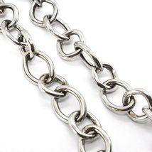 925 Silber Halskette, Kette Oval Quadratisch, Abwechselnde, Lang 48 cm, T image 3