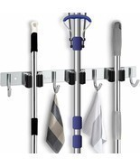 Favbal Broom Mop Holder Wall Mount Stainless Steel Wall Mounted Storage ... - $36.48