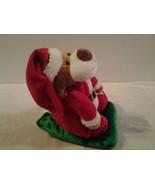 DanDee Dan Dee animated & musical Sledding Christmas Dog light up cheeks... - $12.86