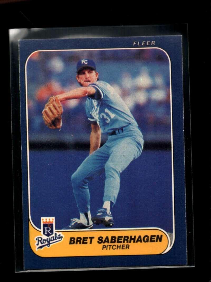 1986 FLEER #19 BRET SABERHAGEN EXMT ROYALS