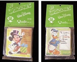 Walt Disney 10 Pack Party Invitations Mexican 1990s Mickey Mouse Donald ... - $18.99