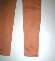 New J Brand Jeans Skinny Womens Coated Peach Leather Mid 26 Tigers Eye Pants USA image 9