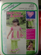 Sewing Pattern Twirl Top & Pants sizes 1-4T Easy to Sew - $5.00