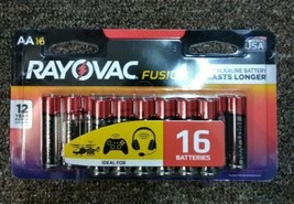Rayovac  Fusion  AA  Alkaline  Batteries  16 pk Carded - $12.87