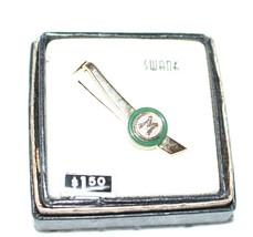 Vintage Swank Tie Clasp Letter M Goldtone Original Box - $14.03