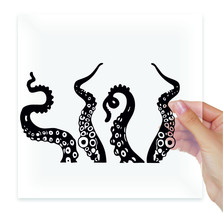 Octopus tentacles bathroom Vinyl Stickers Decal Car Glass Laptop Noteboo... - $2.99+