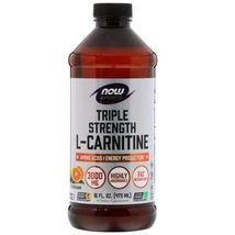 Now Foods Sports Triple Strength L-Carnitine Liquid Citrus, 16 fl oz (473 ml) - $29.99