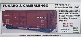 Funaro F&C HO READING XAe Steel Autocar w/ Reading Roman decals Kit 8395 image 1