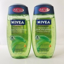 Nivea Touch Of Lemongrass Hydrating Shower Gel Sunflower Oil Pearls Lot 2 Rare - $33.85