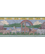 Distressed Noahs Ark Wallpaper Border with Various Animals ART4031 - $16.99
