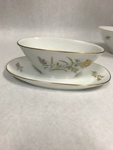 Rosenthal Sommerbluten Summer Blossoms Bettina Gravy boat under plate go... - $49.49