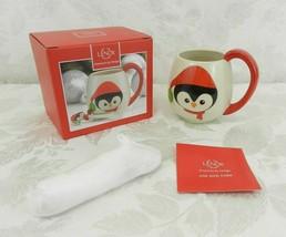 Lenox Mug & Spoon Set Penguin Christmas Holiday Cup - $10.88