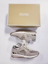 New Michael Kors Women's Allie Trainers Metallic Sneakers Shoes Gold Siz... - $118.78