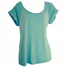 Mint Velvet Top Blouse Open Back Draped Green Mint Silk Pastel Shirt Siz... - $26.44