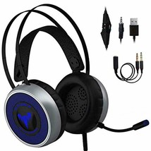 [Newest 2019] Gaming Headset for Xbox One, S, PS4, PC with LED Soft Breathing Ea - $51.26