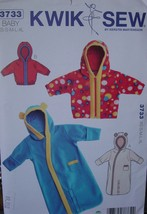 Sewing pattern 3733 Baby Bunting or Jacket Sizes Newborn to 12-18 months - $6.99