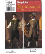 Simplicity Pattern 4059 Renaissance Costume Men's Sizes XS, S, M, L, XL ... - $9.99