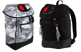 New Champion Men's Top Load School Grey Black Camo School Backpack CH103... - $89.65 CAD