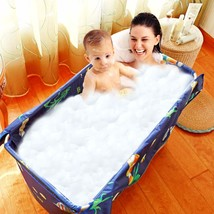 Portable Bathtub with Cover, Folding Bathtub for SPA Bathing, Freestandi... - $338.30