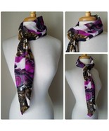 Liscaro Scarf Wrap Ultimate Fashion Accessory Devereaux Design Abstract ... - $14.26
