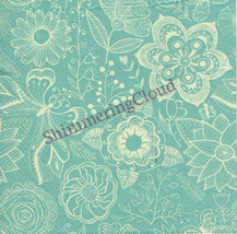 Mint Napkins, Decoupage Napkins, Paper Napkins, Blue White, Blue Beige, ... - $3.20