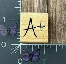 CTMH Co. A+ Grade Rubber Stamp School Education Teacher Wood Mount #V106 - $2.72