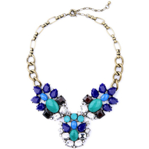 Necklace Crystal Imitation Gemstone Cluster Maxi Vintage Necklace Party... - $20.22