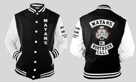 Maynans Mc Cali Varsity Baseball Fleece Jacket W Sleeve And Front Logo - $41.57