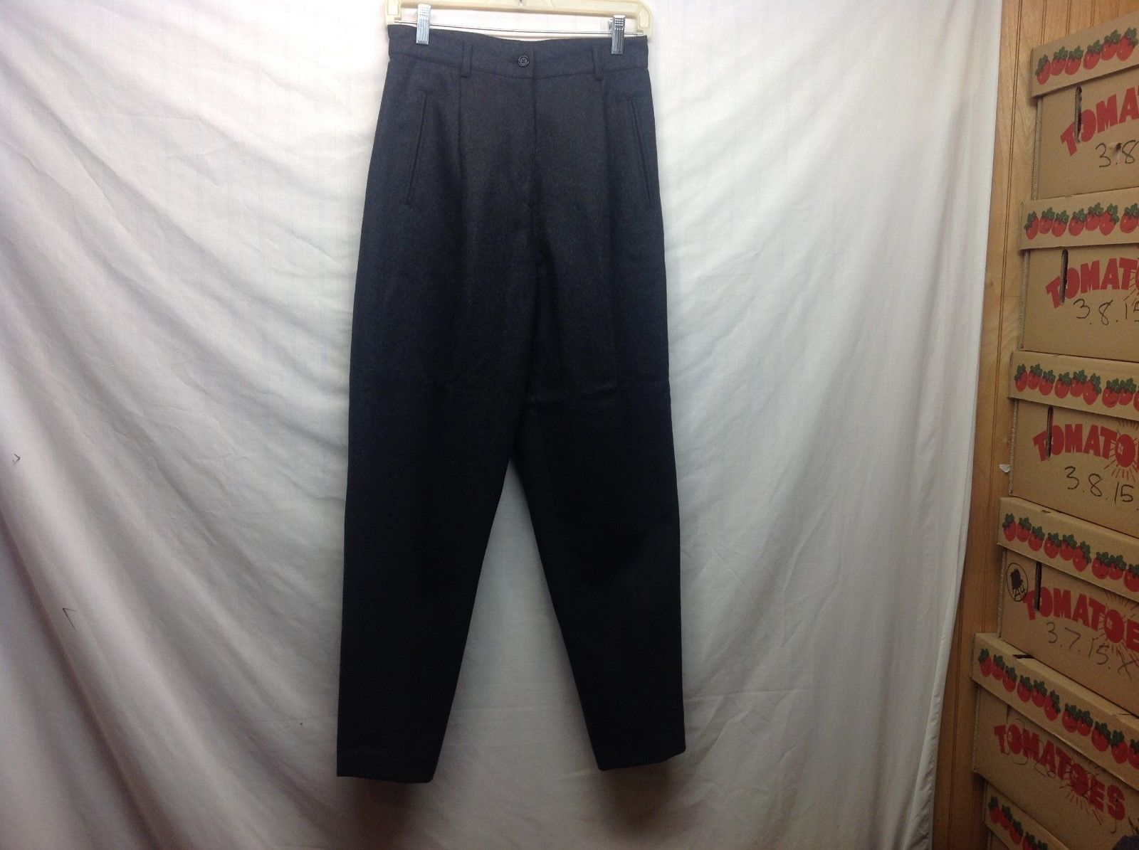 United Colors of Benetton Charcoal Grey Dress Pants Sz 42