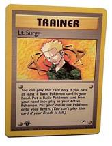 Pokemon Card - 1st Edition Lt. Surge Trainer (101/132) Gym Heroes Set **... - $4.99