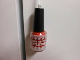 "Hallmark ""Nail Polish Bottle - Merry Up Your Mistletoes"" Ornament NEW wi... - $12.62"