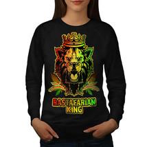 Lion Weed Stoner Rasta Jumper Rasta Life Women Sweatshirt - $18.99