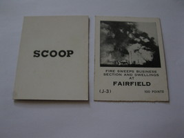 1958 Star Reporter Board Game Piece: Scoop Card - Fairfield - $1.00