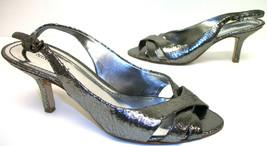 NINE WEST Silver Freshlooker Pumps 7.5 Shoes Slingbacks 7 1/2 - $13.50
