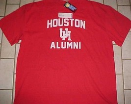 Houston Cougars U of H Football NCAA AAC Alumni Red Scarlet T-shirt 2XL New - €20,20 EUR